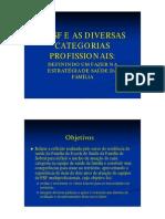 Psf Diversas Categorias Profissionais Definindo Um Fazerestrategia Saude Familia[1]