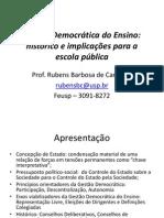 Gestão Democrática Do Ensino 2011