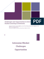 Challenges and Opportunities in Internationalizing Student Learning in Indonesia