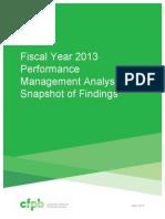 CFPB 2013 Performance Ratings Report