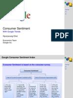 Consumer Sentiment Google Trends