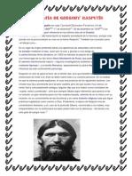 Biografía de Gregory Rasputín
