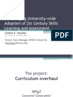 Encouraging University-wide Adoption of 21st Century Skills Learning and Assessment (PPT)