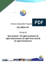 NZ Itinerary