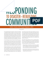 Responding to Disaster Rebuilding Communities_Spring 2014