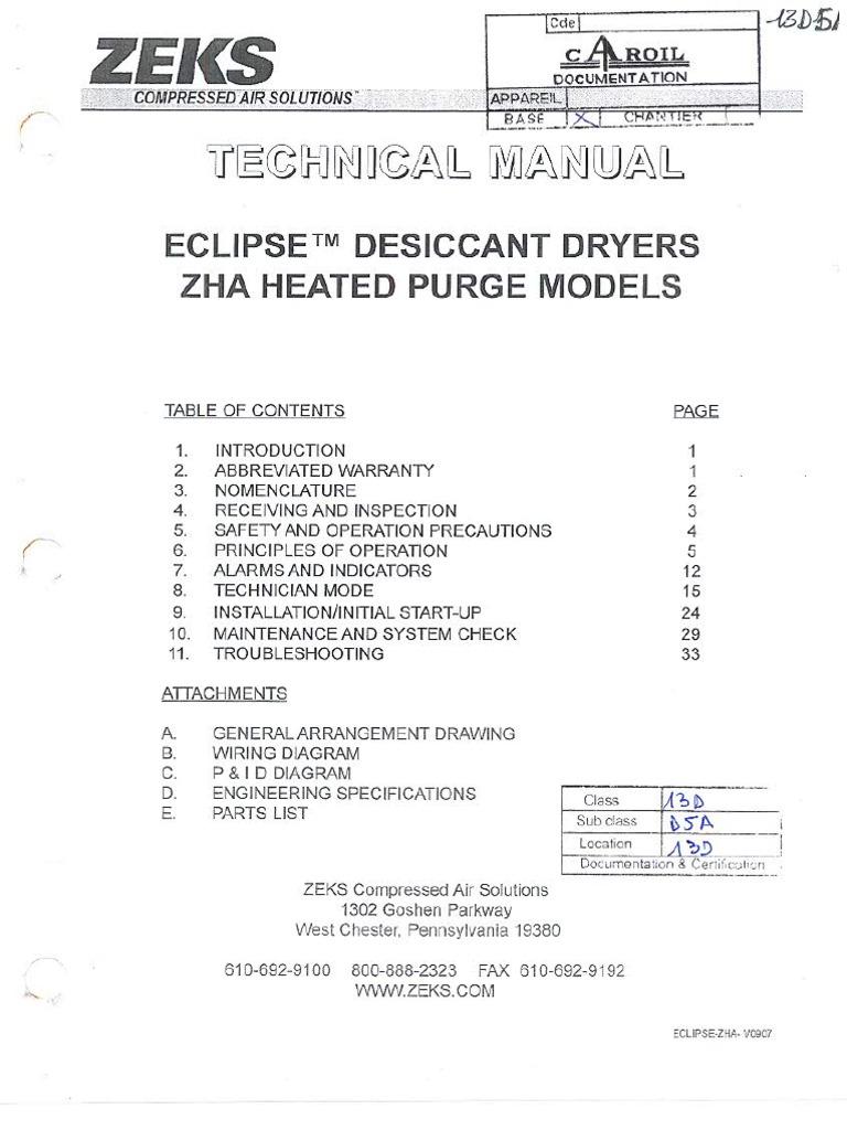 Zeks Air Compressor Dryer Manual Ebook Universal Multiflex Frigidaire Electric Wiring Diagram Parts Array Compressed Solutions Hvac Clothes Rh Scribd