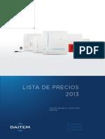 Enova Lista de Precios 2014