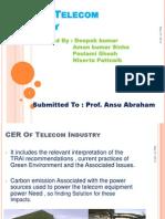 CER of Telecom Industry