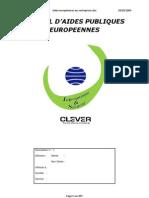 Aides Europeennes Aux Entreprises