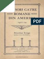 Nicolae Iorga - Scrisori Către Românii Din America - 1921- 24