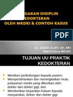 Penegakan Disiplin Kedokteran
