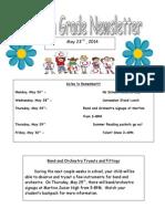 fourth grade newsletter 5-23