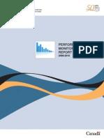 2009-2010 NPB Performance Monitoring Report