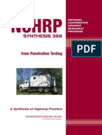 Cone Penetration Testing - NCHRP (2007)