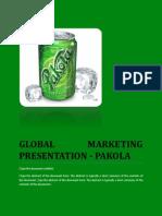 Global Marketing Presentation Pakola