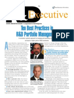 10 Best Practices Research and Development Portfolio Management