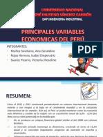 Principales Variables Economicas Del Perú
