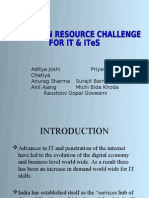 THE HUMAN RESOURCE CHALLENGE  FOR IT & ITeS