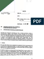 Oficio Subsecretaria de Justicia sobre Eliminación de Antecedentes Penales 2007