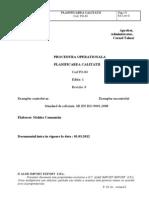 PO-04 Planificarea Calitatii