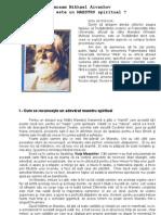 Omraam Mikhael Aivanhov Ce Este Un MAESTRU Spiritual