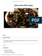 Mussels With Celery and Chilli Recipe