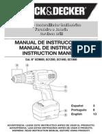 Manual Atornillador B&D GC1200 Gc1440 Gc1800 Gc9600