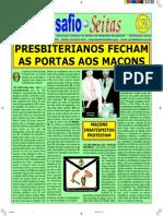 Presbiterianos Fecham as Portas Aos Maçons
