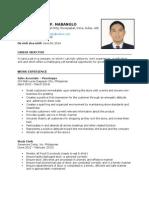 Resume of Daniel Jayson Mabanglo