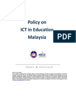 Policy on ICT in Education Malaysia 2010