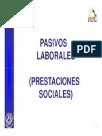 Pasivos Laborales (Prestaciones Sociales)