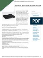 Controlador de Serviços Integrado RFS4000 802