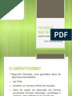 TEORIAS SINTÁTICAS - GERATIVISMO