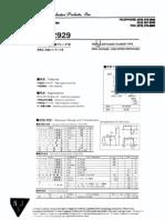 2sc2929 PDF, 2sc2929 Szczegóły, 2sc2929 Dane, 2sc2929 View ___ Alldatasheet __