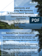 9 Investment & Financing Mechanisms in Environment Services