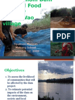 Potential Impacts of Pak Chom Dam on Local Food Security - Loei Province, Northeastern Thailand