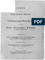 Index to The Final Rolls of Citizens and Freedman of the Five Civilized Tribes 1906