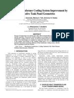 Distribution Transformer Cooling System Improvement by Innovative Tank Panel Geometries