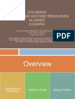 Colorado Cultural and Historic Resources Alliance (CCAHRA)