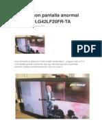 TV LCD Con Pantalla Anormal
