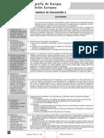 Evaluación. Modelo a. Geografía de Europa. La Unión Europea (Soluciones)