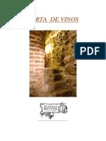 Carta de Vinos Restaurante Botin