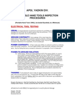 Portable Hand Tools Inspection Procedure