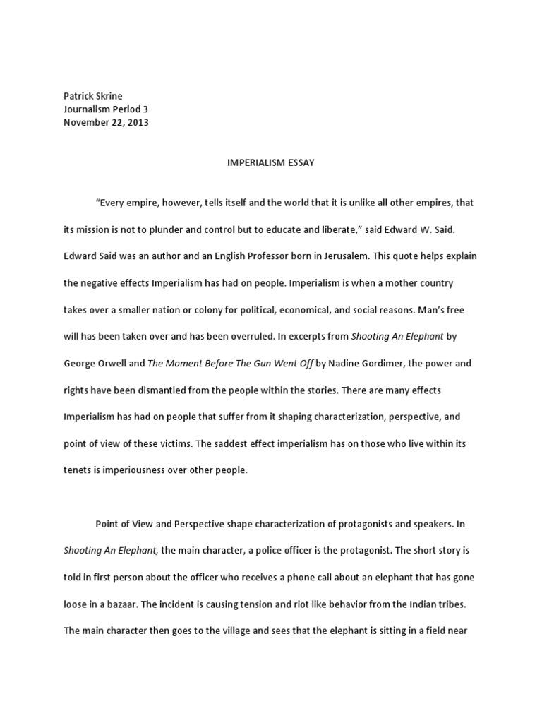 imperialsim essay journalism pat skrine narration imperialism