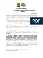 140527 COMUNICADO_Inaceptables Declaraciones de Procurador de Sinaloa Frente Al Asesinato de Defensora