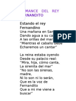 Romance Del Rey Fernandito
