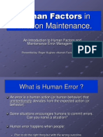 Human Factors for New Indoc Cl  ass
