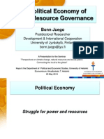 "Bonn Juego (2014) ""The Political Economy of Natural Resource Governance"""