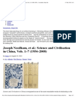Joseph Needham, Et Al.