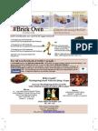 Brick Oven Courtyard Grille November 2009 Newsletter